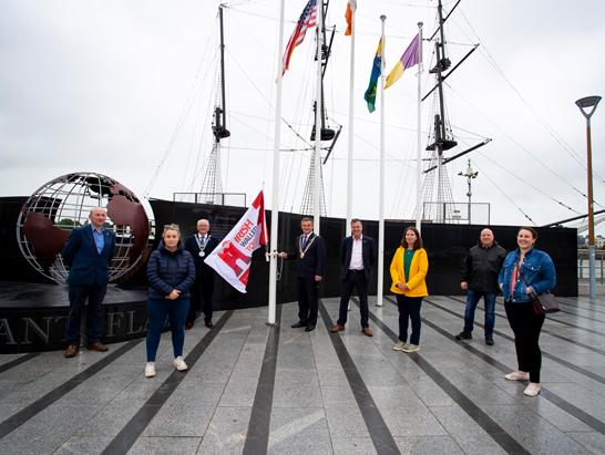 IWTN Flag exchange between coastal member towns continues
